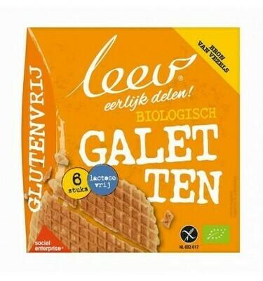 Leev Glutenvrije Galetten Gluten- en Lactosevrij 6 stuks (90 g)