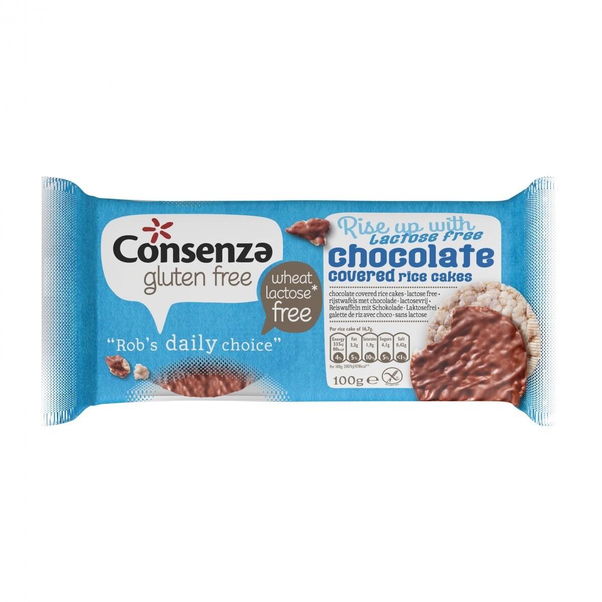 Consenza rijstwafels Met Lactosevrije Chocolade