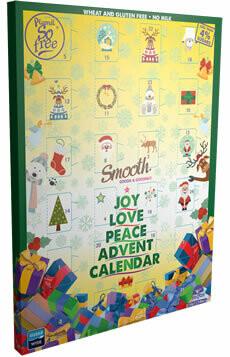 """Plamil Advent Kalender """"melkchocolade"""" met minder dan 4 % suiker, gluten- en lactosevrij"""