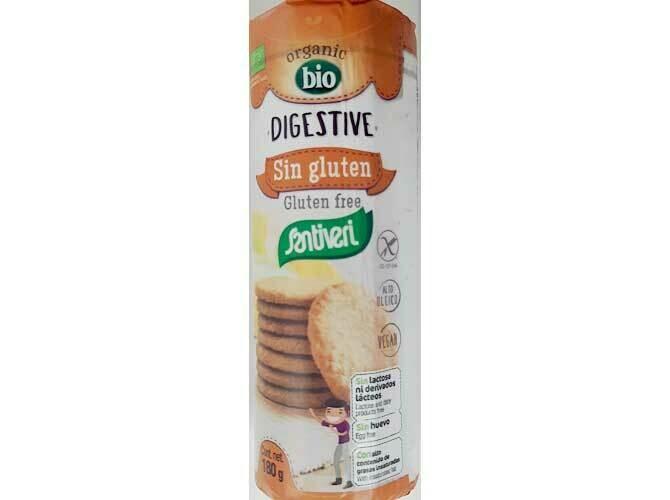Santiveri Digestive koekjes bio,  ei-vrij, glutenvrij, lactosevrij, vegan.