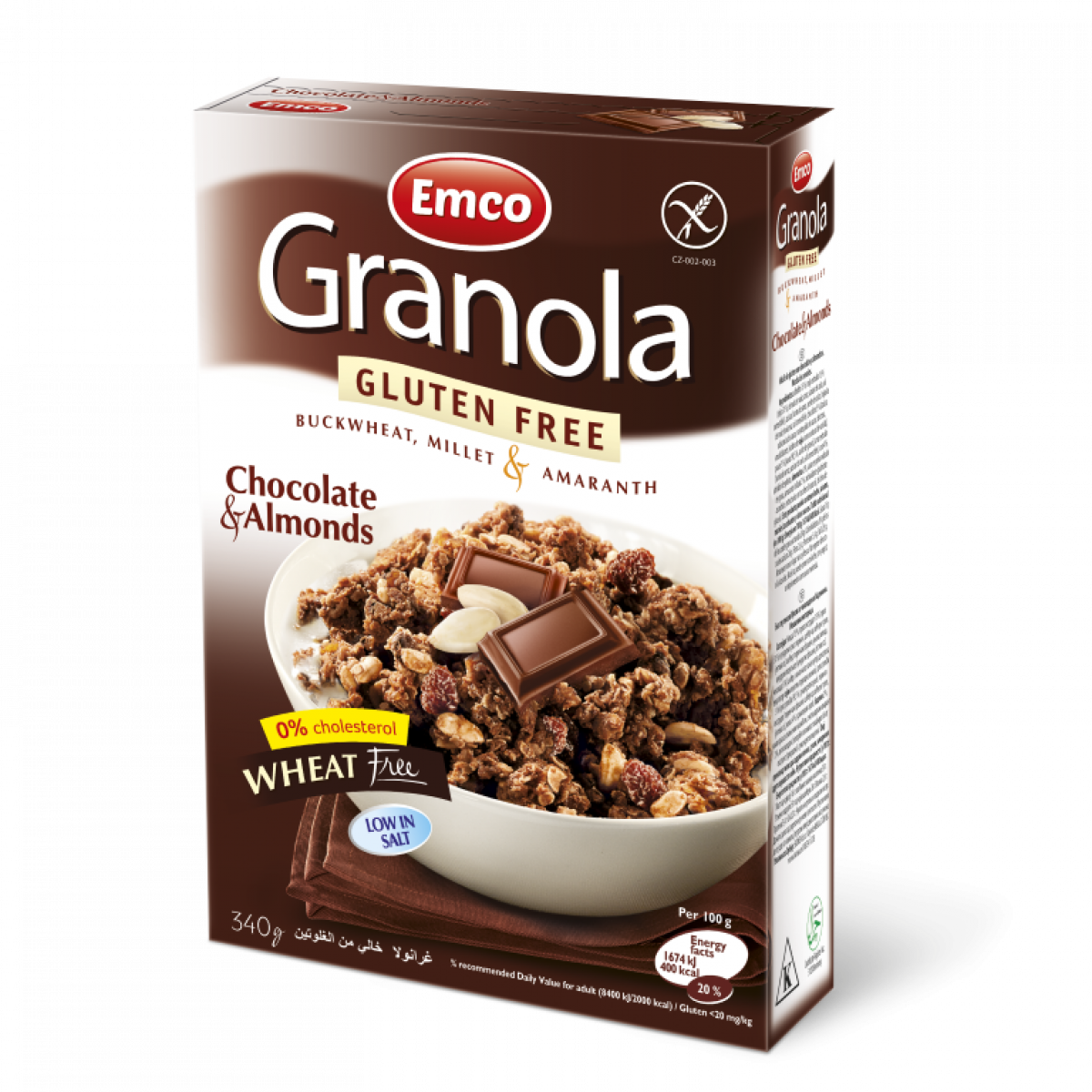 Emco Granola Chocolate & Almons 340 g