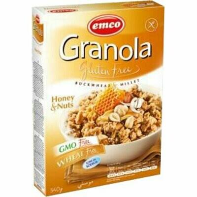 Emco Granola met honing en Noten 340g