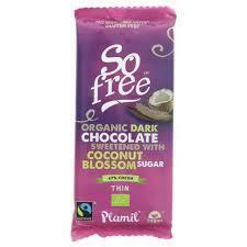 Plamil Vegan Organic Dark Chocolate with coconut blossom Sugar 80 g