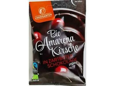 Landgarten Amarena-kersen omhuld met pure chocolade