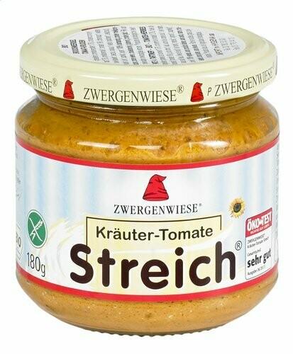 ZWERGENWIESE Bio broodsmeersel tomaat & kruiden 180g