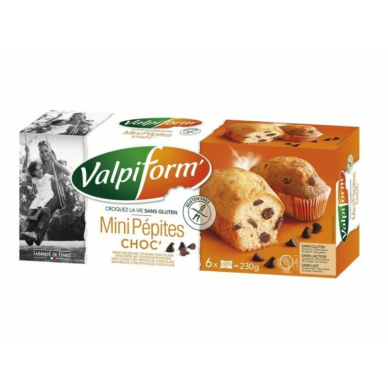 Valpi mini cakes stukjes chocolade 6 stuks 230 g
