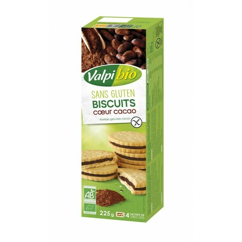 Valpi bio biscuits coeur cacao (4x2pcs) 225g