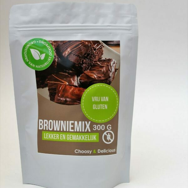 Choosy en Delicious Browniemix Glutenvrij 300 g