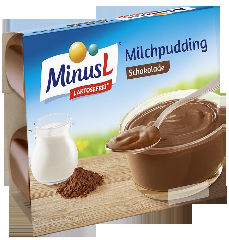 Minus L Chocoladepudding Lactosevrij( enkel op afhaling) 4 x 125 g
