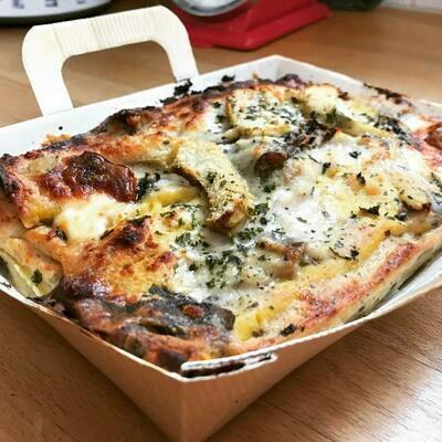 Miolo : Lasagne Pompoenboter en porcini 450 g( GV-LV - Vegetarisch) bestellen voor Dinsdag 18 uur voor levering op zaterdag !