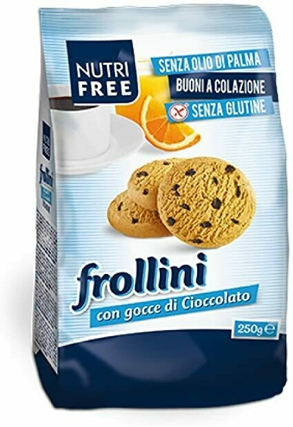 Nutrifree Frollini Integrali ( volkoren zandkoekjes zonder toegevoegde suiker ) 250 g
