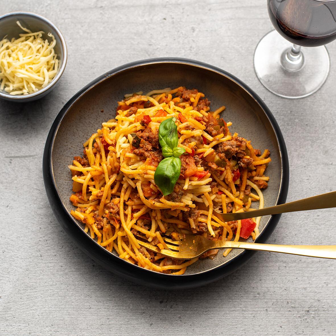 """Spaghettisaus """" menne meug"""" 1 kg"""