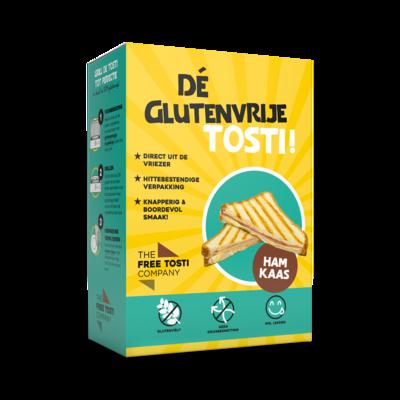 The Glutenvrije Tosti met Ham/Kaas ! ( Op afhaling of levering in uw provincie op zaterdag ! ( Diepvries) 2 stuks