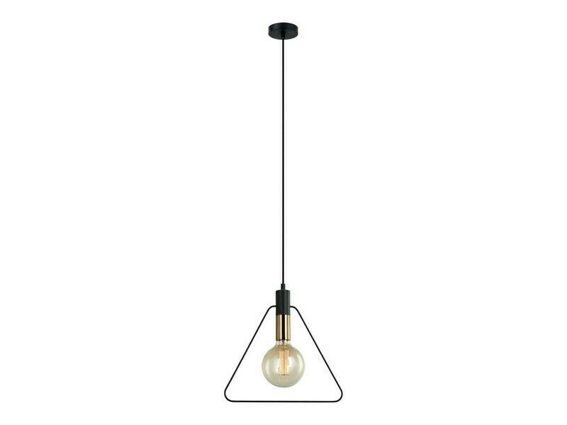 Design lamp LED triangel of rond Brons