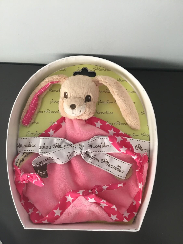 Knuffeldoek voor baby -babyknuffels pioupiou&merveilles