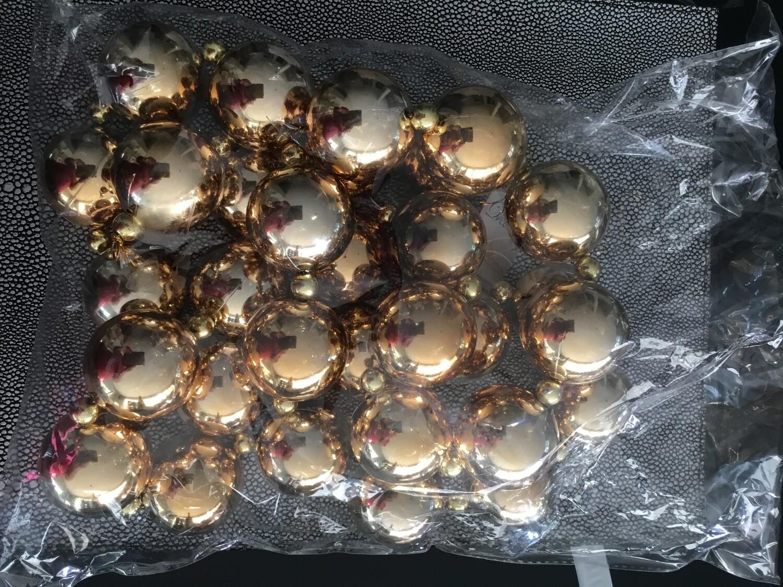 Kerstslinger 180cm gouden ballen