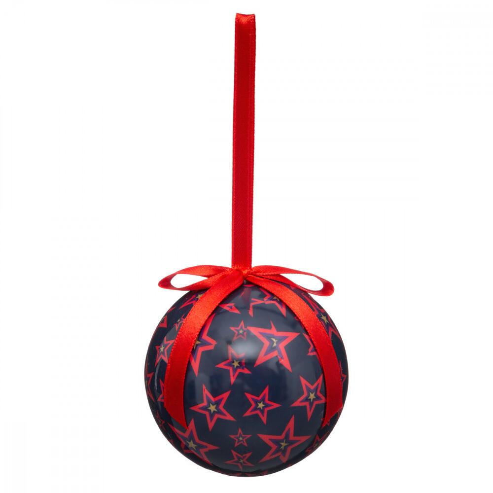 Kerstballen van bedrukt papier