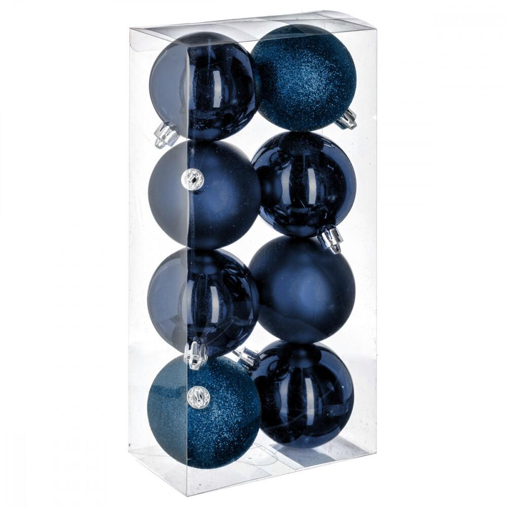 Kerstballenset - 8 stuks - 7cm - Verschillende Kleuren