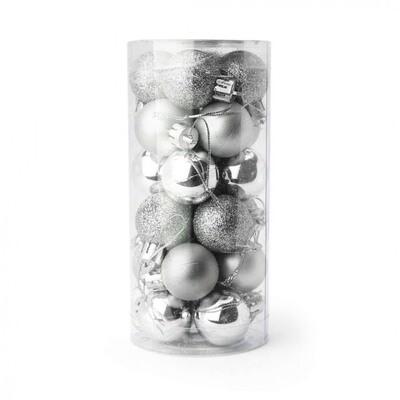 Kerstballenset  24 stuks onbreekbare kerstballen mini 2.5a3cm