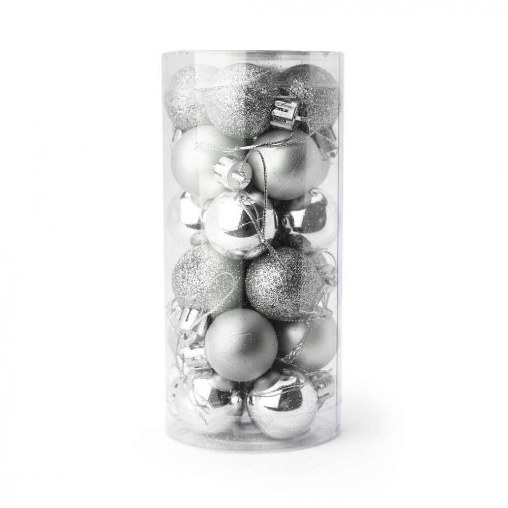 Kerstballenset 24 stuks - 2.5 cm