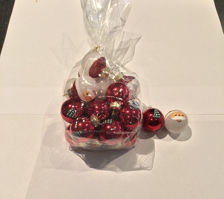 Kerstballen en hangers in glas per set
