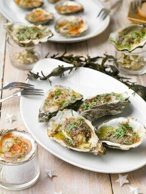 Gegrilde oesters op 3 wijzen