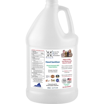 4-pack of 1 gallon 80% hand sanitizer - ONLY $25.72/gal - qty discounts available