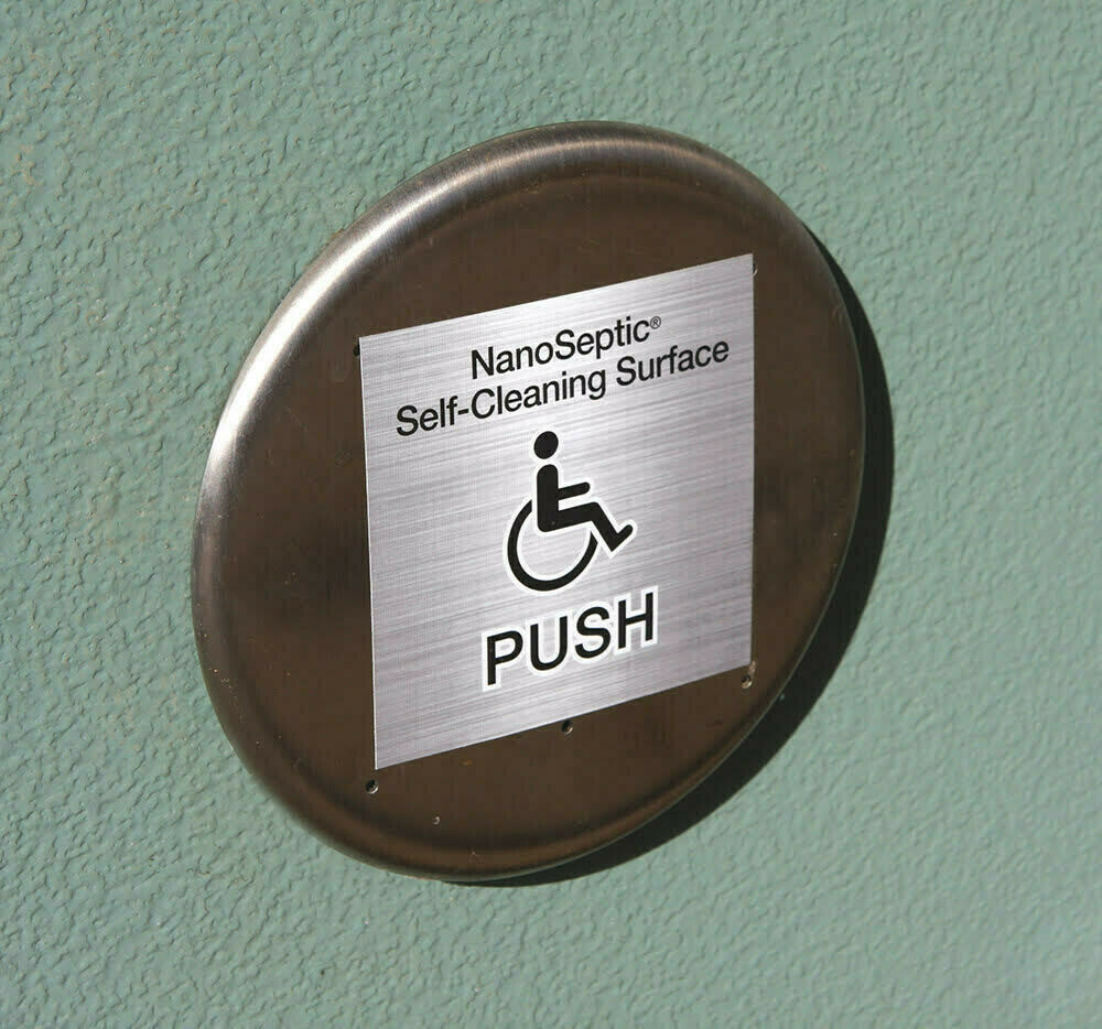 ADA Auto Door Push Button Skin - 25 Pack