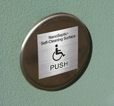 ADA Auto Door Push Button Skin - 25 Pack