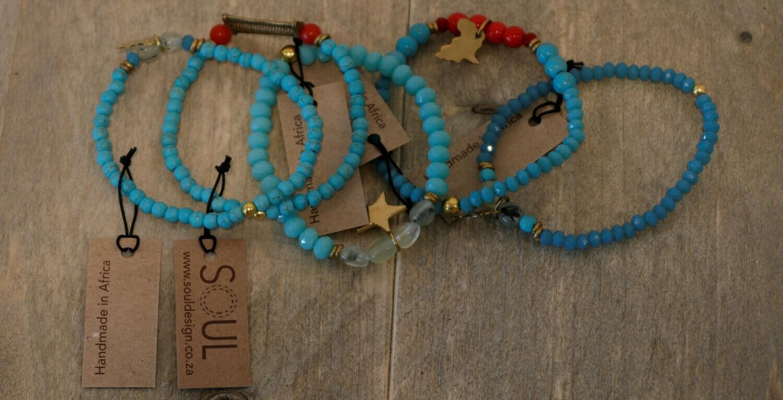 Soul Design : Juju aqua bracelets set of 5