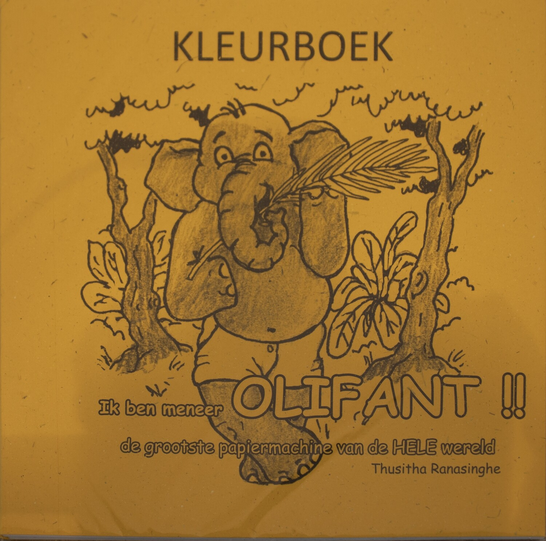 Elecosy : kids elephant story colouring book