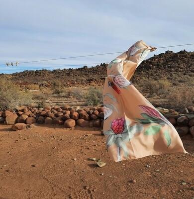Silvan Cape Town : Botanic Silk Scarves in gift box