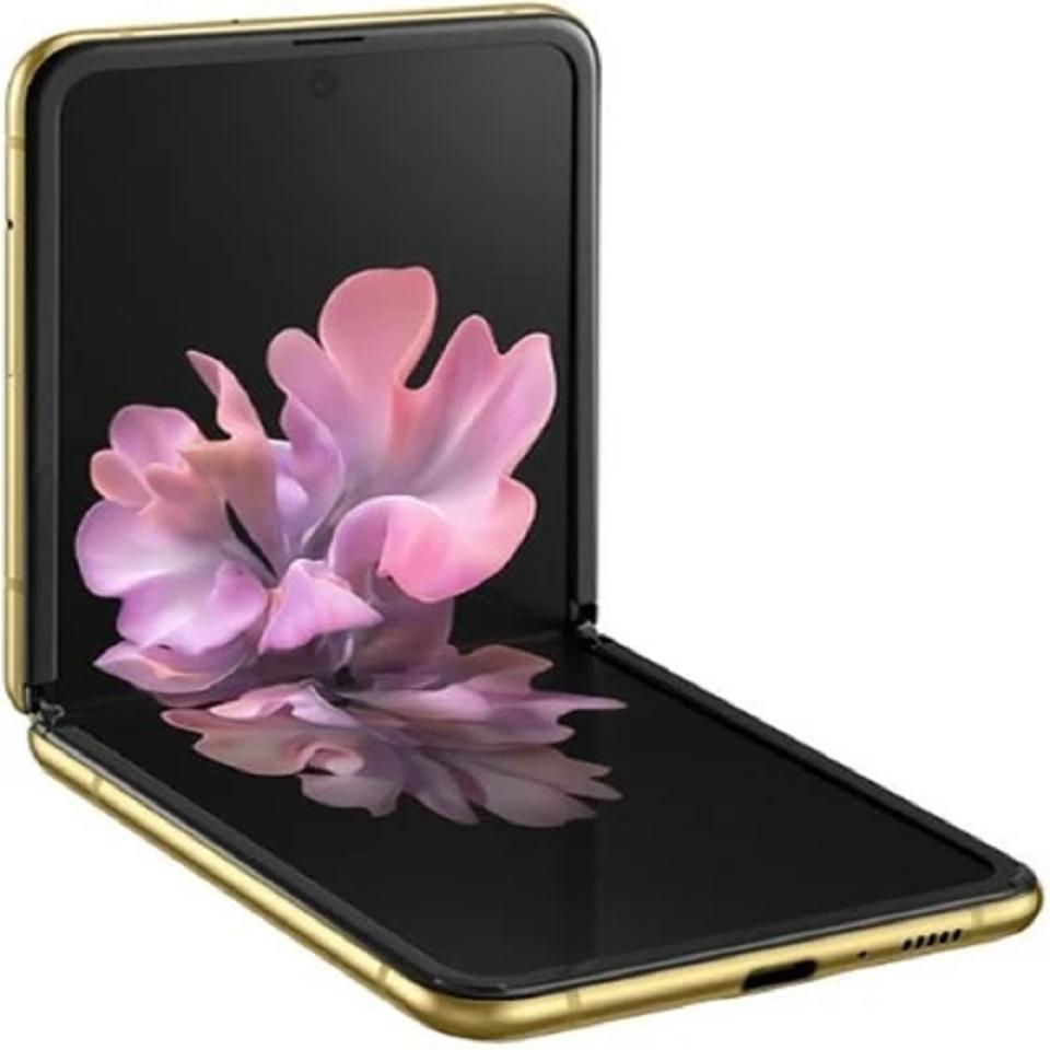 Samsung Galaxy Z Flip 4G LTE, SM-F700N | 256GB Unlocked (Mirror Gold)