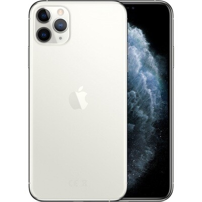 Apple iPhone 11 Pro Max, A2218 | 64GB Unlocked (Silver)
