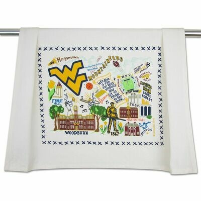 WV University Dish Towel Catstudio