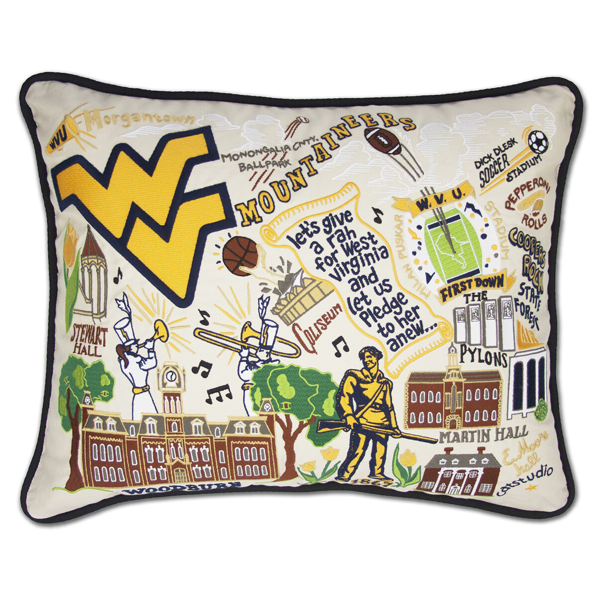 Catstudio WVU Pillow Collegiate Collection