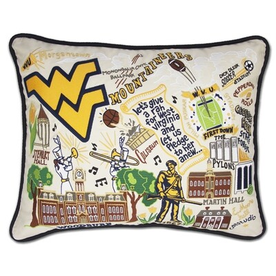 Catstudio WVU Pillow Collegiate Collection