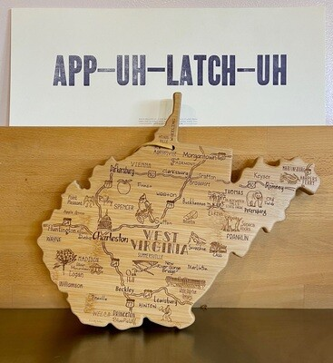 Totally Bamboo Destination WV cutting board