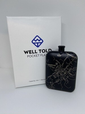 Well Told Etched LWB Hip Flask - Black or S/S