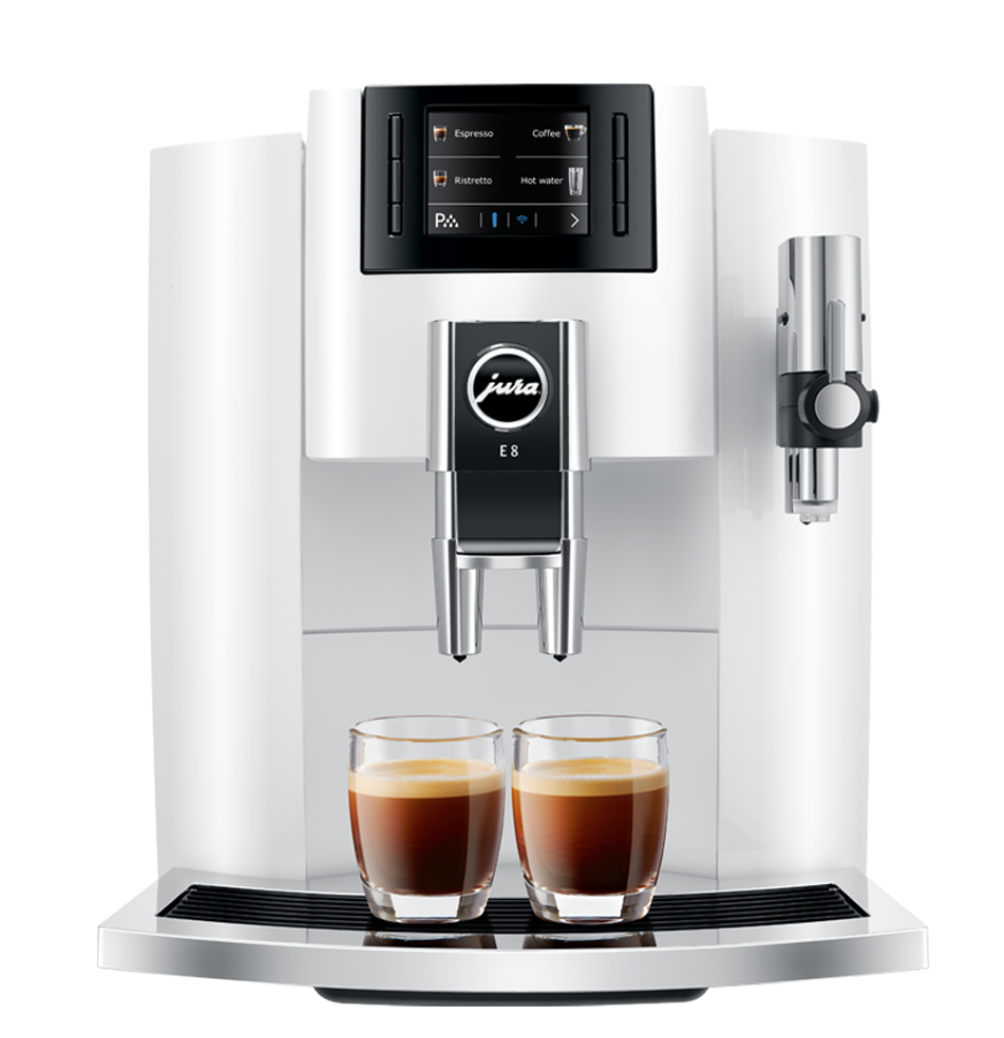 Jura ENA 8 Espresso Machine - 10 specialties, 37 oz. capacity - White