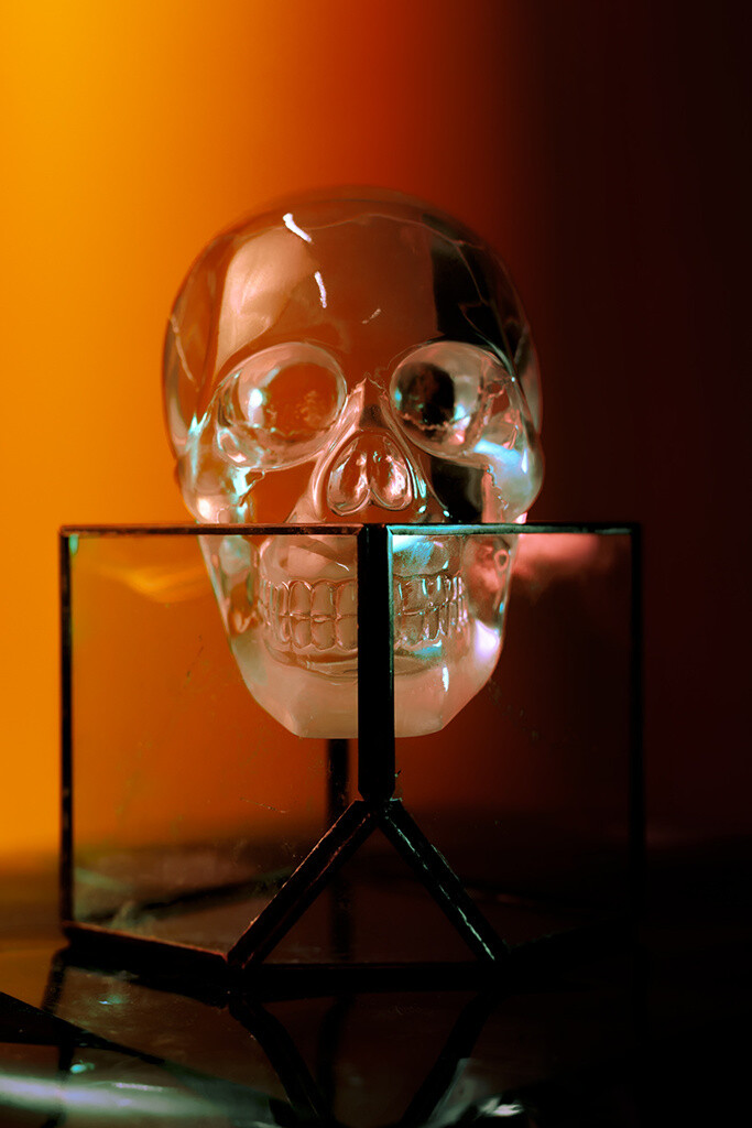 """crystal skull #2"" fine art photographic print"