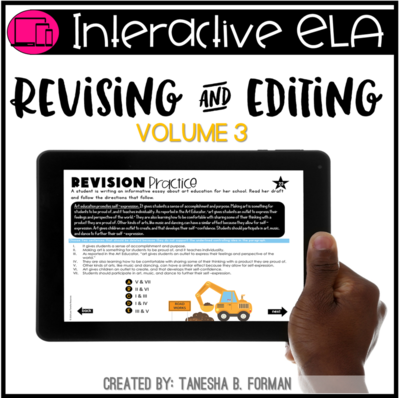 Interactive Revising and Editing practice  - VOLUME 3