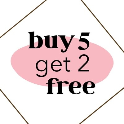 Buy 5 Brazilians get 2 free!