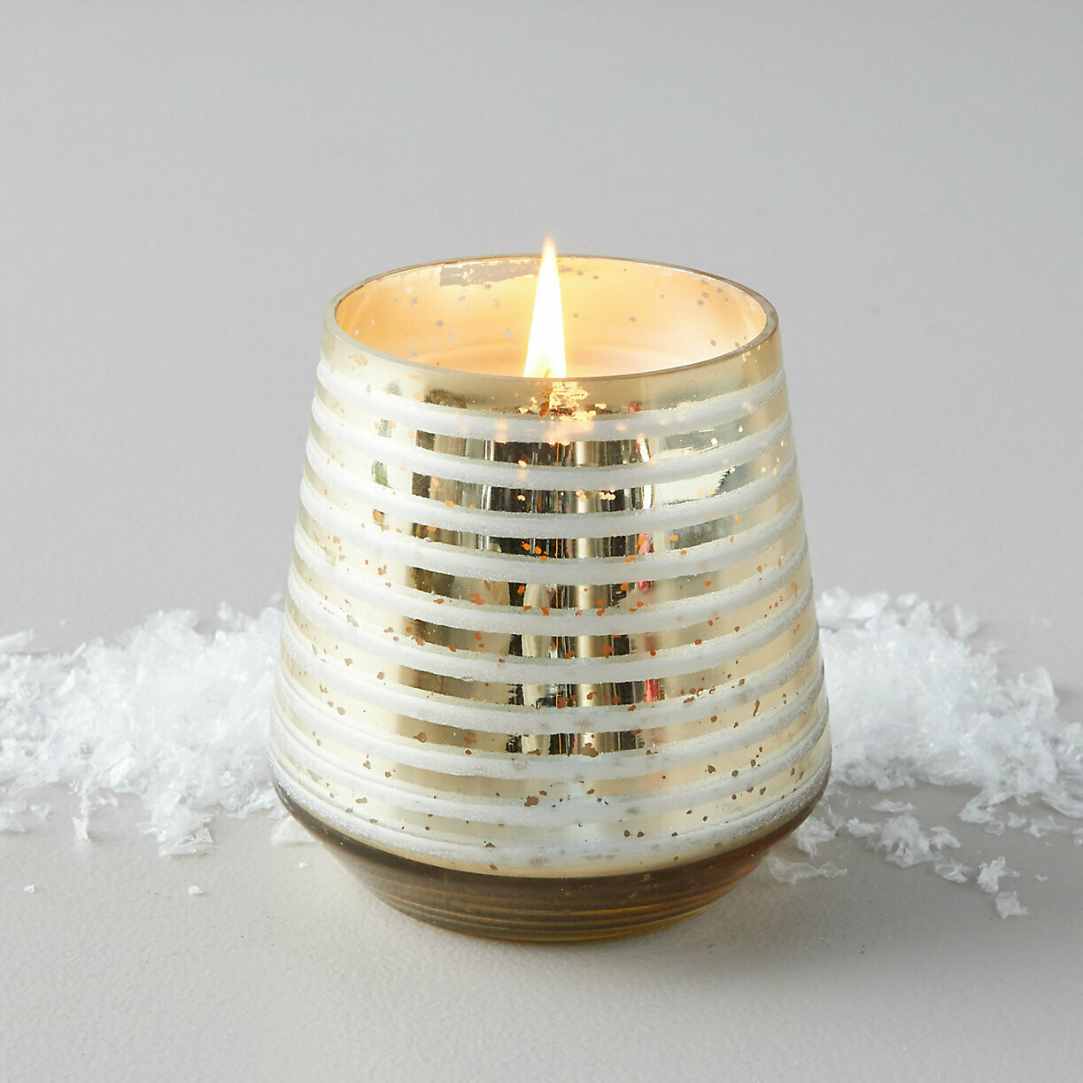 ILLUME Winter White Small Etched Mercury Glass Candle