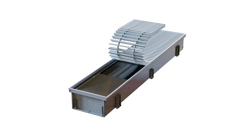 Podlahový konvektor bez ventilátoru NXX | H-125 W-355