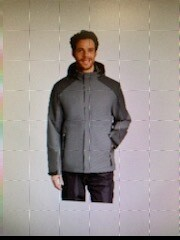 PORT AUTHORITY INSULATED WATERPROOF TECH JACKET (J405) SHADOW/STORM GREY - LARGE