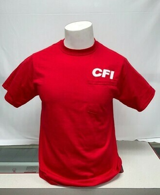 T-SHIRTS (POCKET) RED - MEDIUM