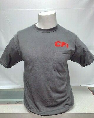 T-SHIRTS (POCKET) GREY - MEDIUM