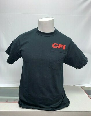 T-SHIRTS (POCKET) BLACK - 4X