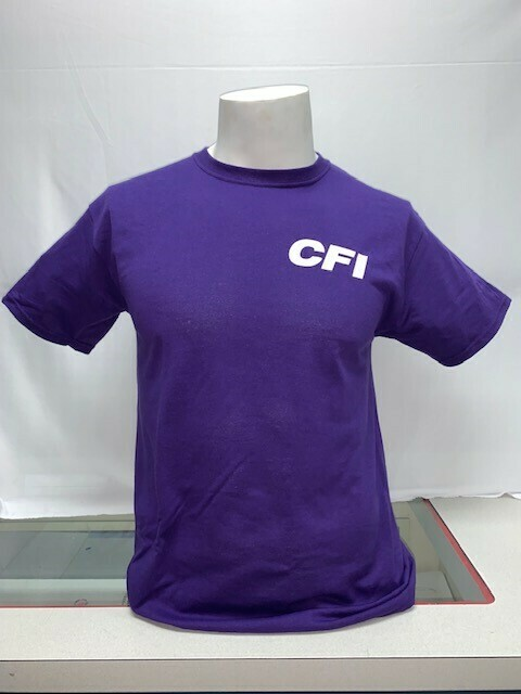 T-SHIRTS (NO POCKET) PURPLE - LARGE